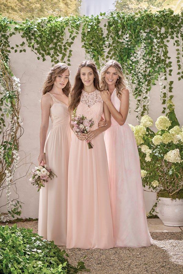 Gorgeous Mismatched Bridesmaid Dresses - Peach mix and match ...