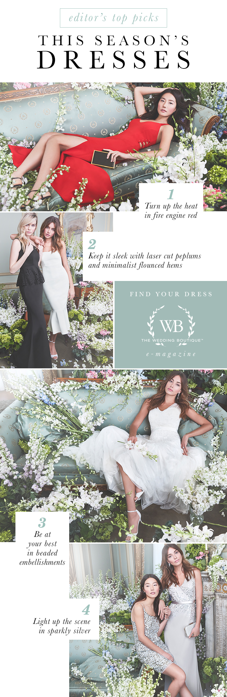 8738169838ae This Season's Top Dresses | The Wedding Boutique Magazine by LE CHÂTEAU