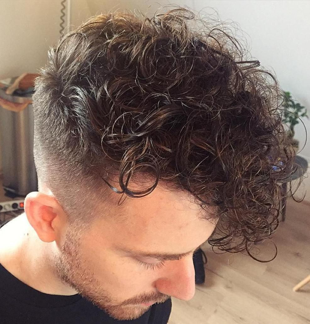 Curly Long Top Short Sides Hairstyle For Men Men S Curly Hairstyles Side Hairstyles Medium Length Hair Styles