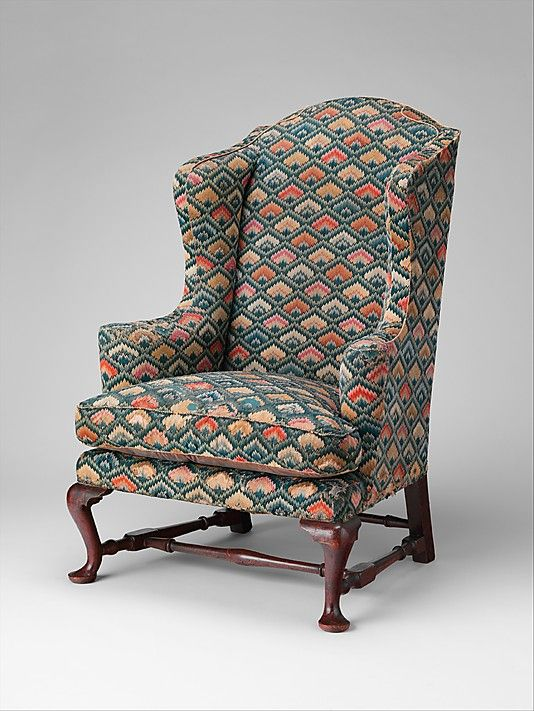 Eighteenth Century Easy Chairs Heavily Padded With Thick Down