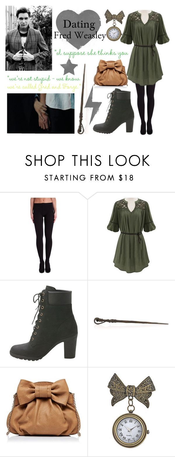 """Dating Fred Weasley"" by annabellechristinewren ❤ liked on Polyvore featuring Pieces, Timberland, Forever New, KING, George, women's clothing, women, female, woman and misses"