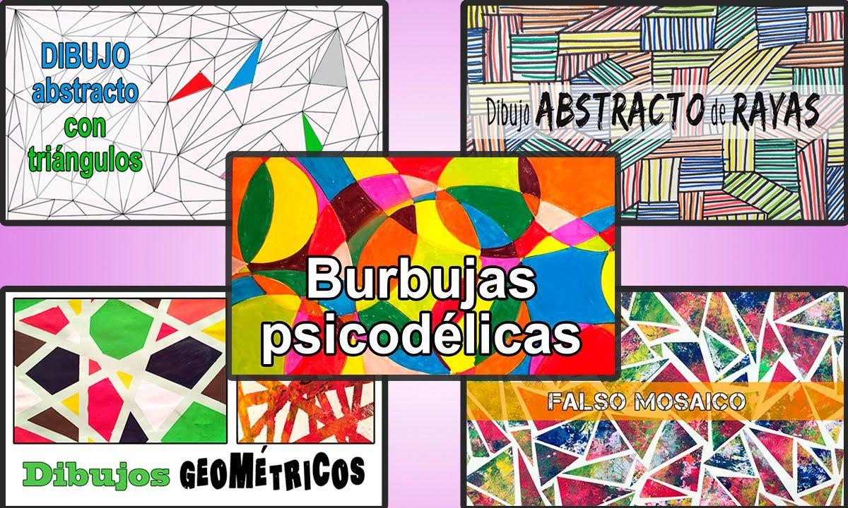 5 dibujos geométricos fáciles y divertidos dibujos con figuras