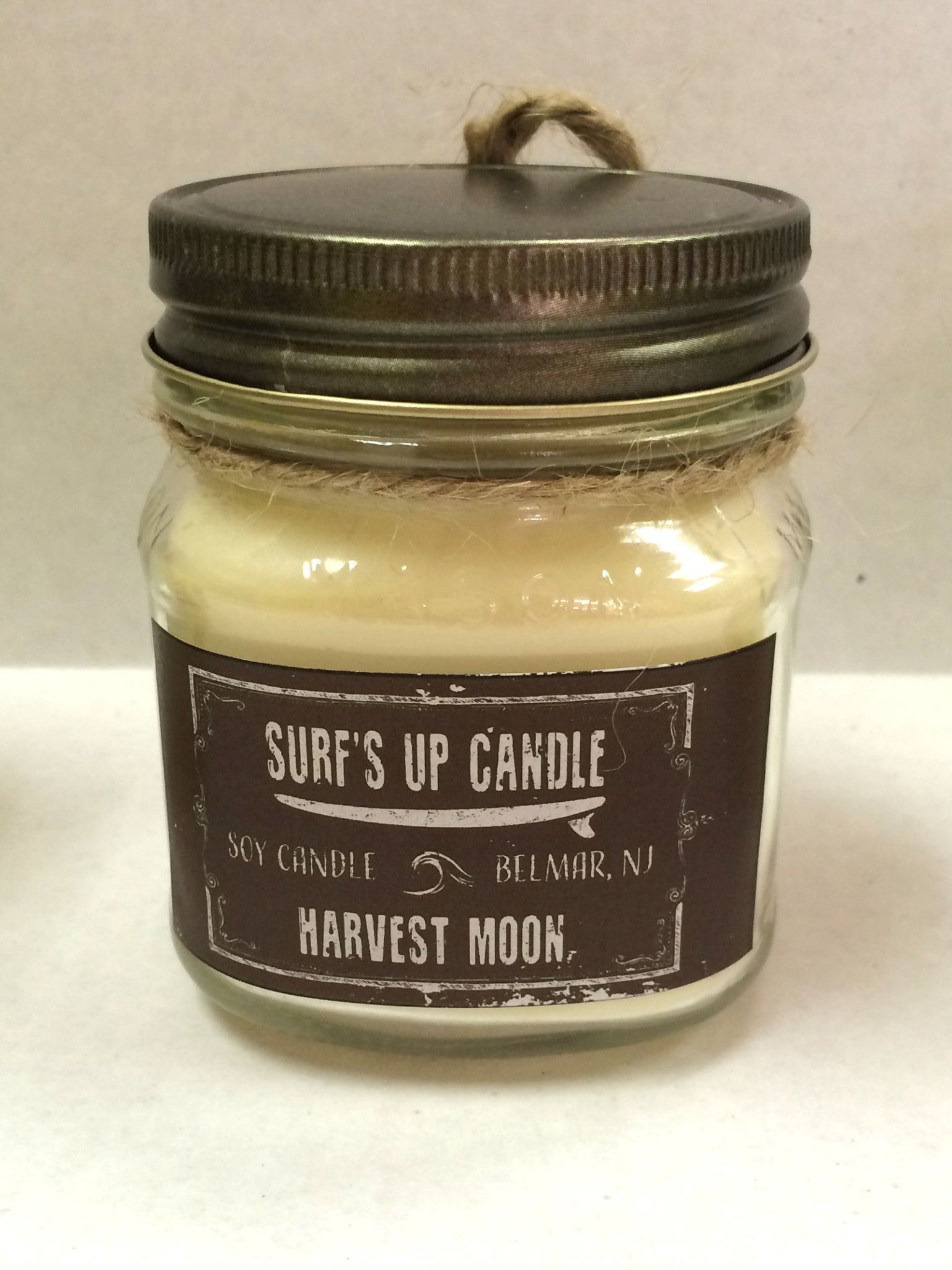Harvest Moon Medium Scented Soy Candle,Mason Jar Candles,Natural Soy Candles,