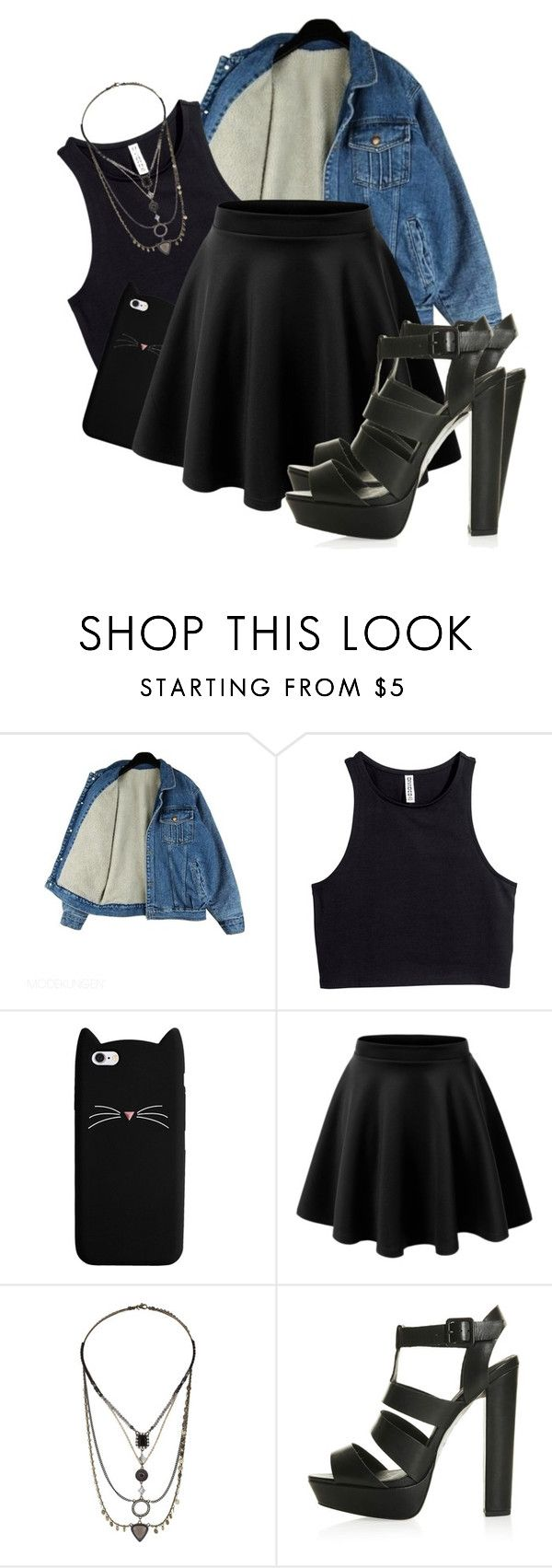 """""""Untitled #918"""" by idc-baby ❤ liked on Polyvore featuring beauty, H&M and Topshop"""