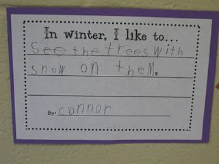I think 1st graders could write a book from this.