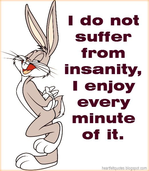 Heartfelt  Love And Life Quotes: I do not suffer from insanity, I enjoy every minute of it.