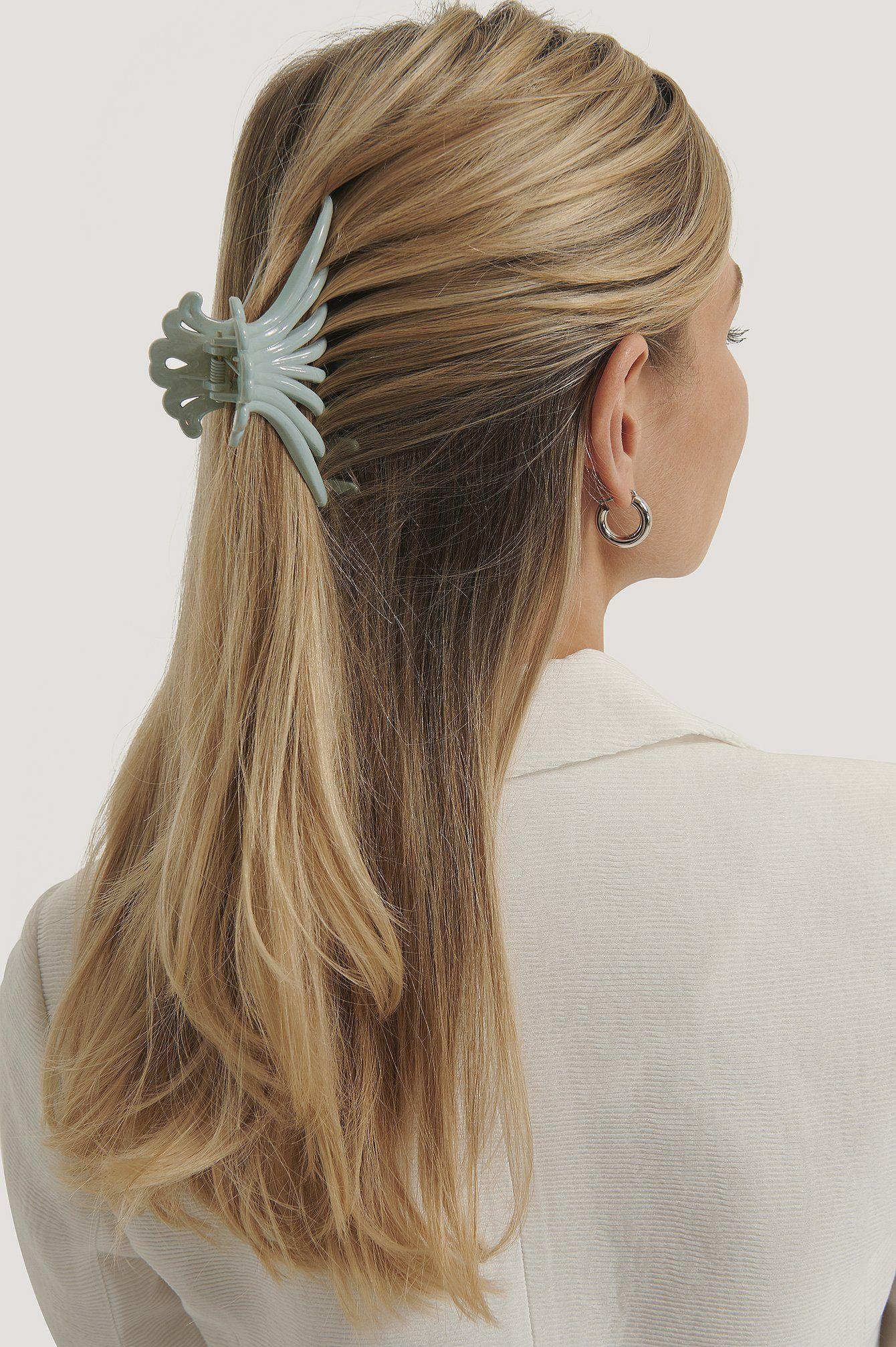 Grosse Oktopus Haarspange Blau In 2020 Haar Styling Haare Lange Gerade Frisuren