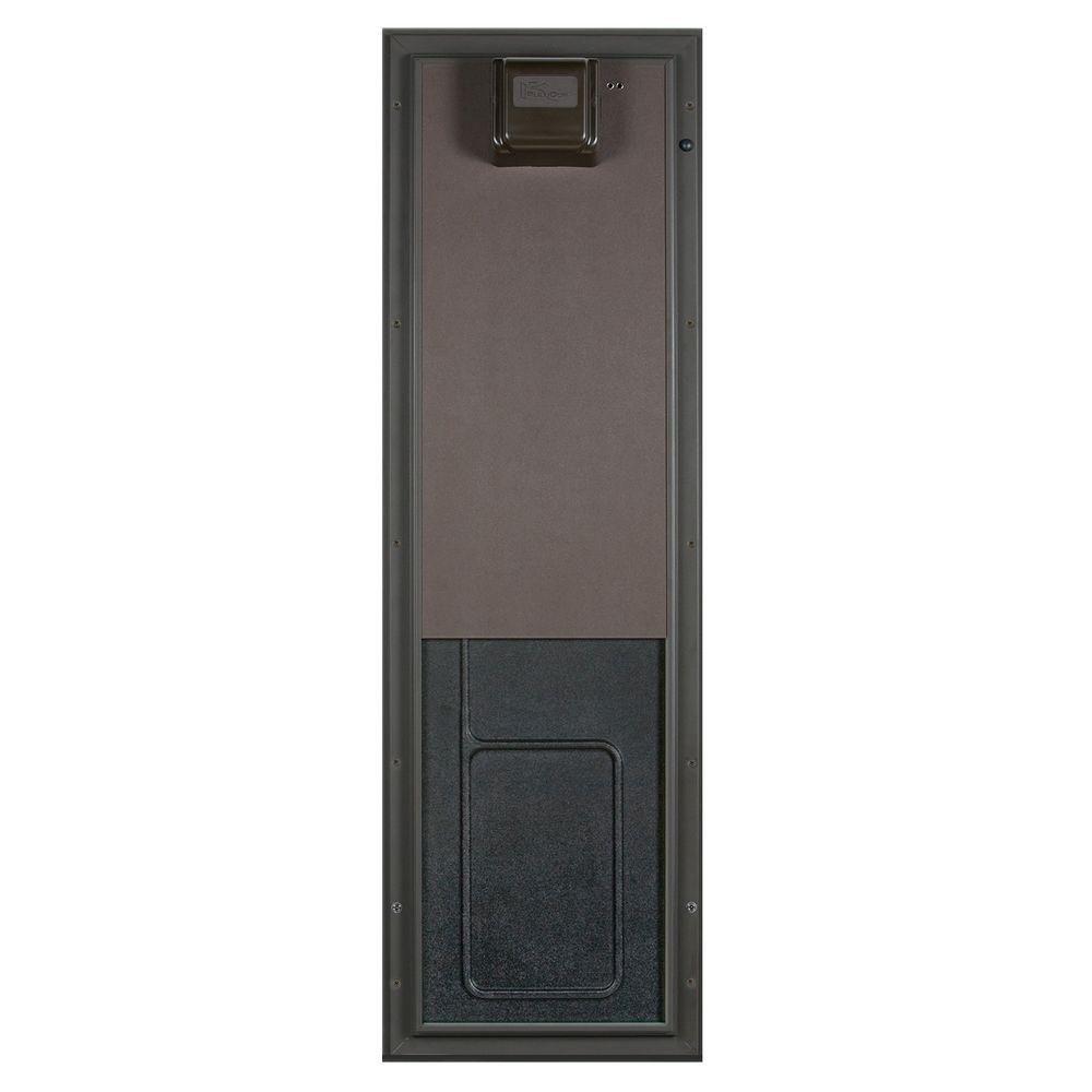 Plexidor Performance Pet Doors 12 75 In X 20 In Large Bronze Door Mount Electronic Dog Door Pde Door Lg Br Pet Door Pets Home Depot