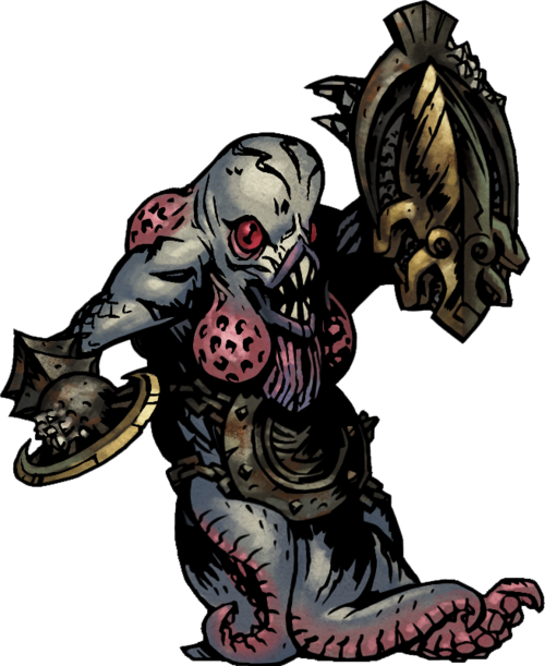 Pelagic Guardian The Pelagic Guardian Is An Eldritch Type That Appears In The Cove Arrayed In The Armor Of The Darkest Dungeon Dark Fantasy Character Design