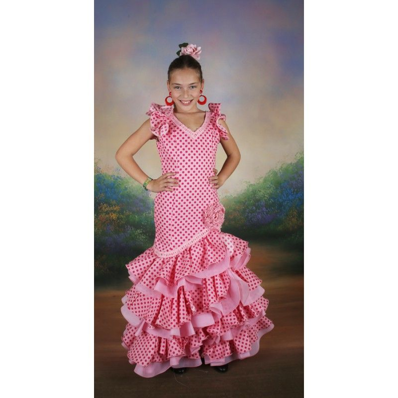 Traje de flamenca niña talla 12 rebajado | TRAJES TIPICOS Y ...