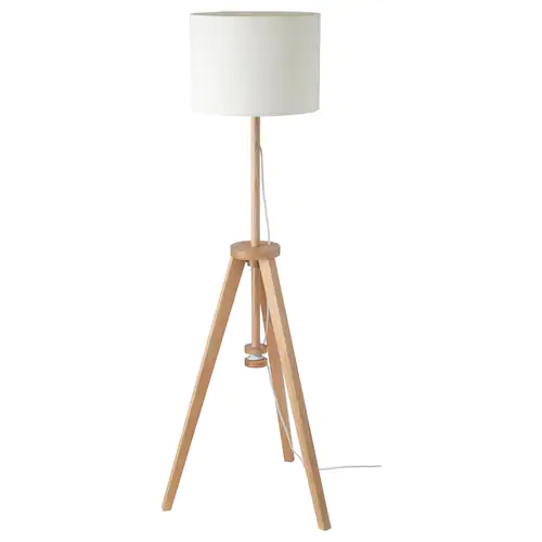 Lauters Floor Lamp With Led Bulb Ash White Ikea In 2020 Ikea Floor Lamp Floor Lamp Ikea Lighting