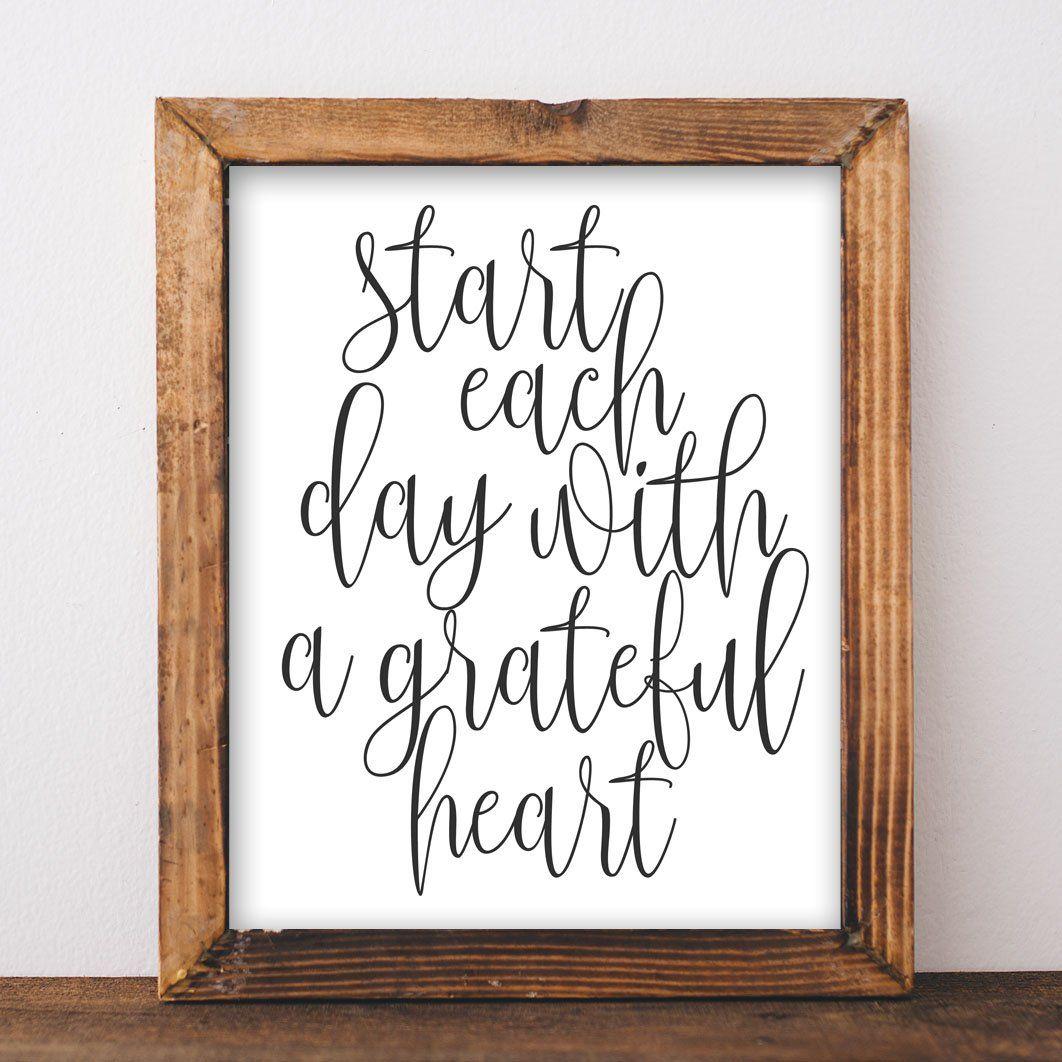 Grateful Heart - Printable images