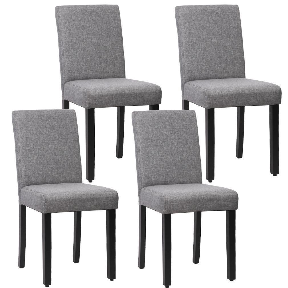 Dining Chair Set Of 8 Elegant Design Modern Fabric Upholstered
