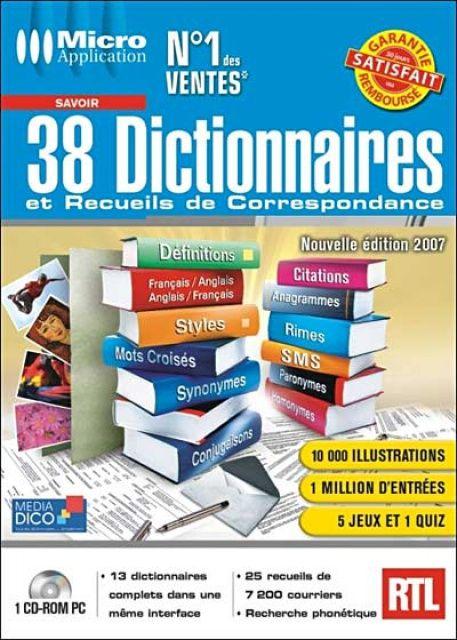 les 38 dictionnaires gratuitement