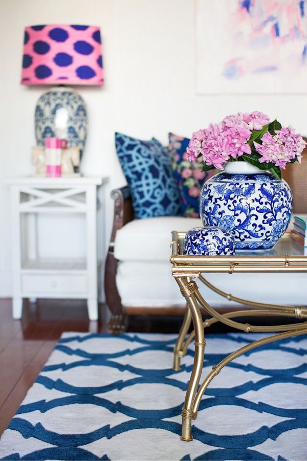 fun gold living room decor. Pink and Navy in Design  Blue And Gold Living RoomBlue Diy party crafts Fun diy Home made
