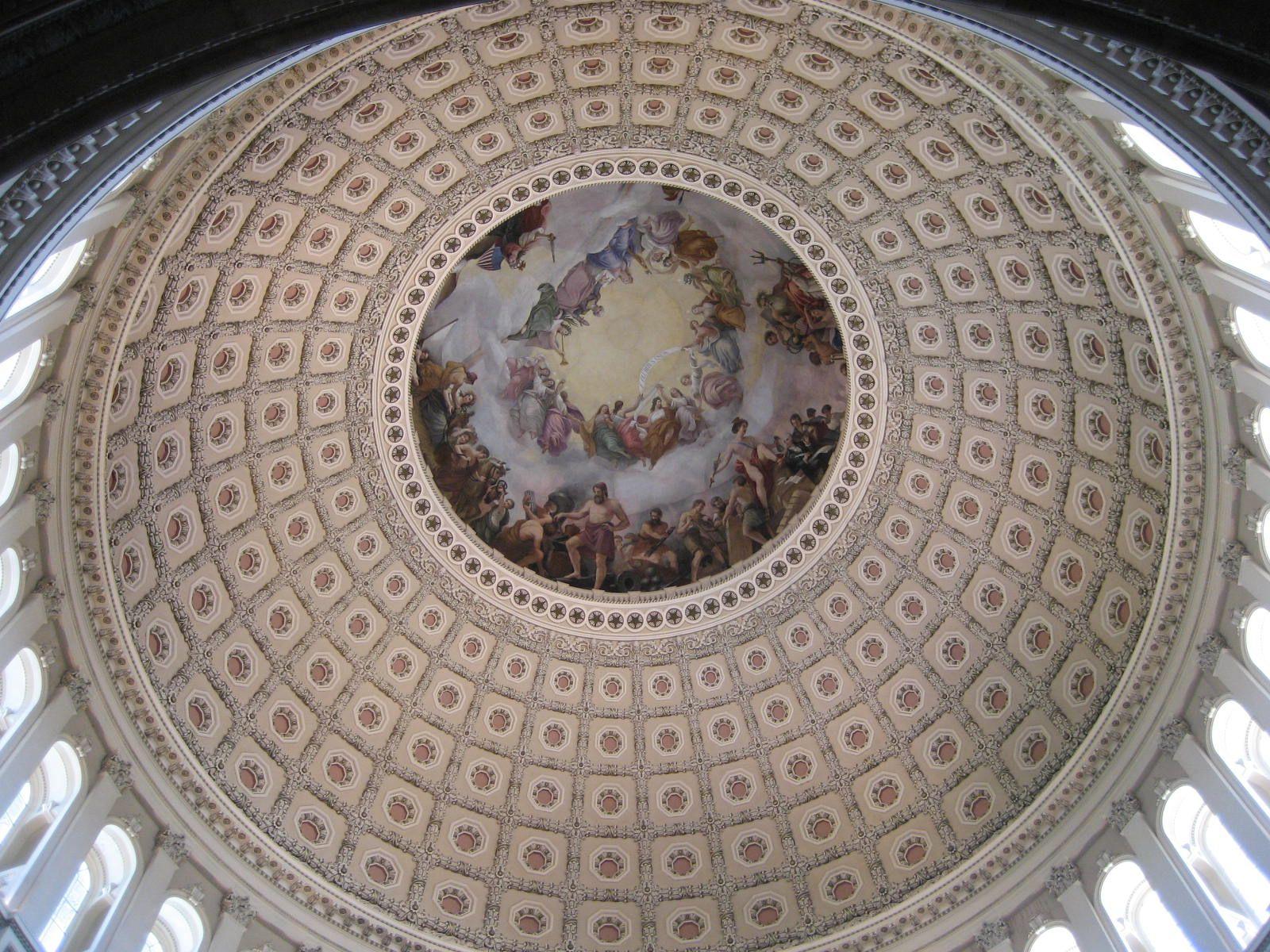 Ceiling inside US Capital