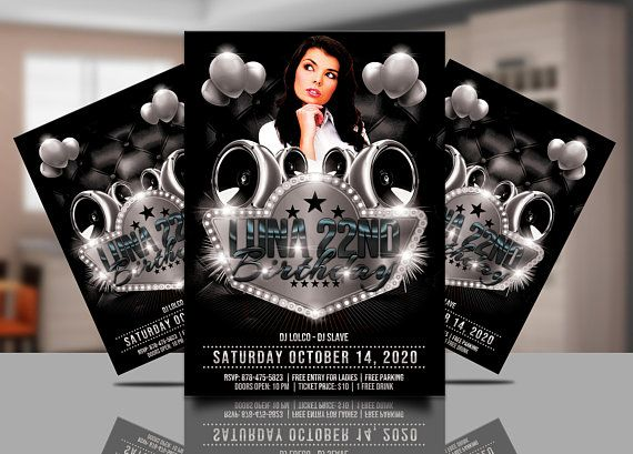 Black and White Party Invitation Template Black White Club Flyer