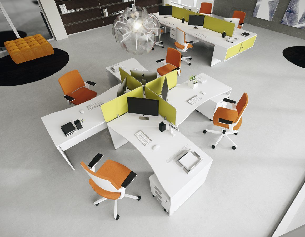 Shared office workstations dv805 della valentina for Ontwerp kantoorinrichting