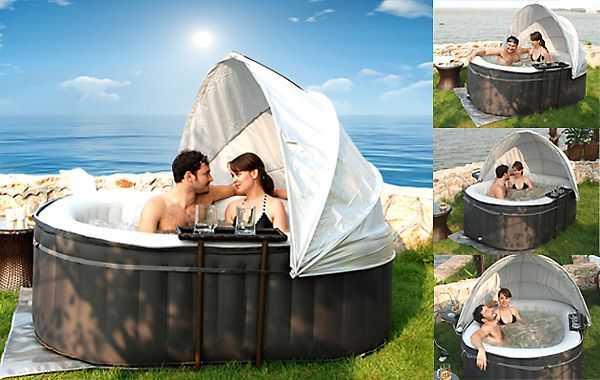 Inflatable Hot Tubs Sales or Hire in Ireland. Ireland first inflatable hot tubs rental and sales company.  sc 1 st  Pinterest & MSPA-Hot-Tub-Accessories-MSPA-Canopy.jpg (600×380) | Grand ...