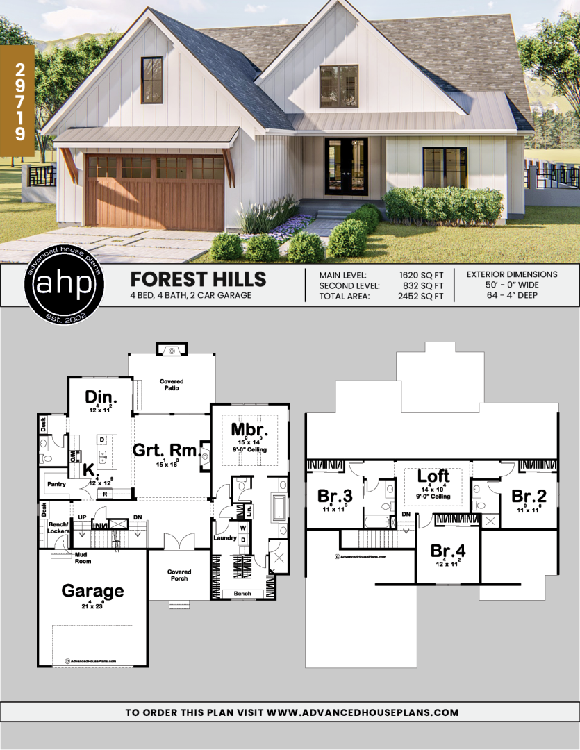 1 5 Story Modern Farmhouse House Plan Forest Hills House Plans Farmhouse Farmhouse House Modern Farmhouse Plans