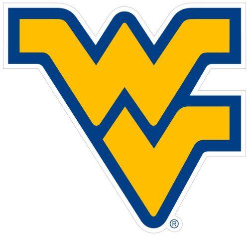 West Virginia University Mountaineers Team Magnet Football LOGO NCAA College