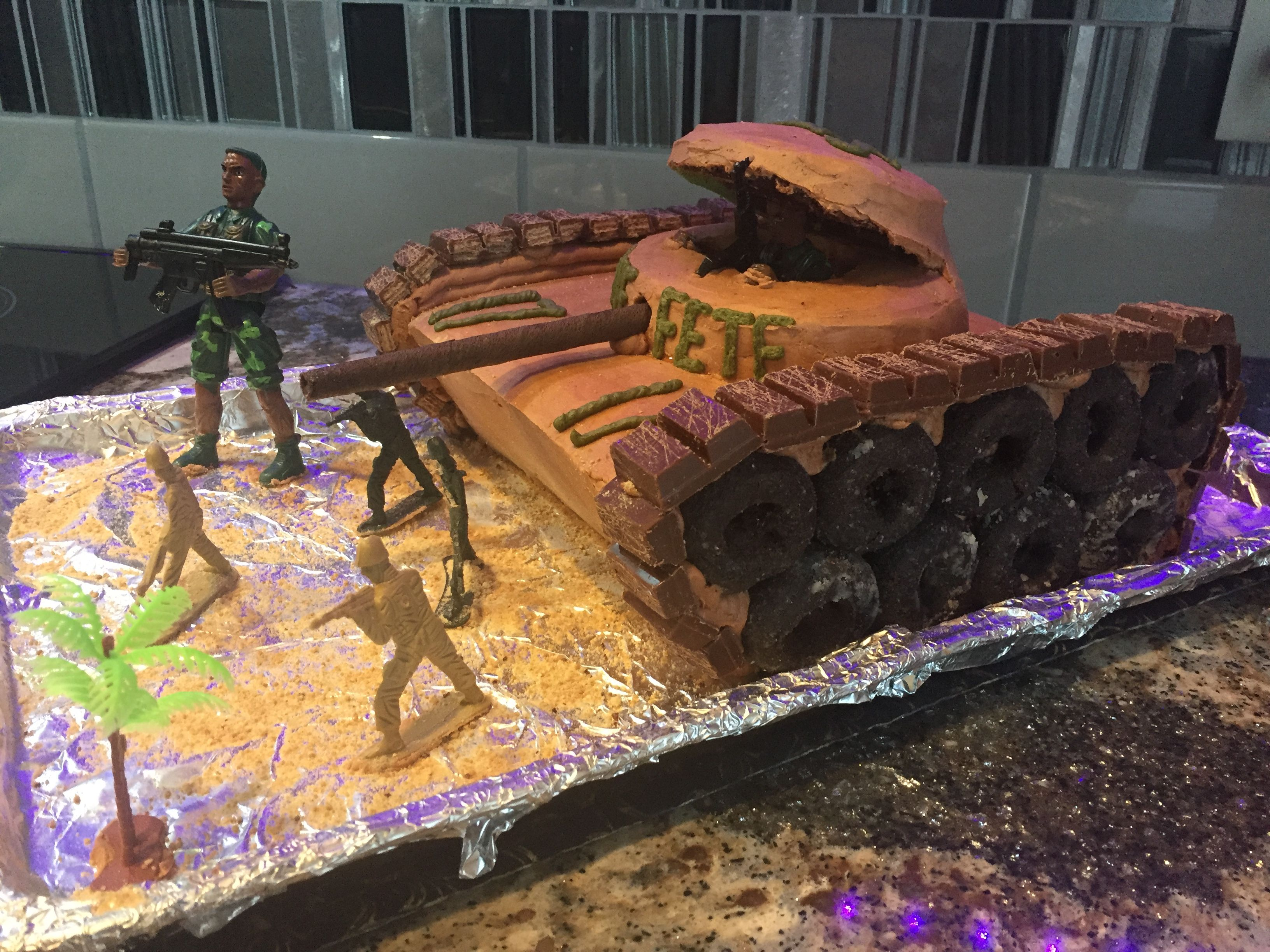 Got A Request From My Son For An Army Tank Cake For His