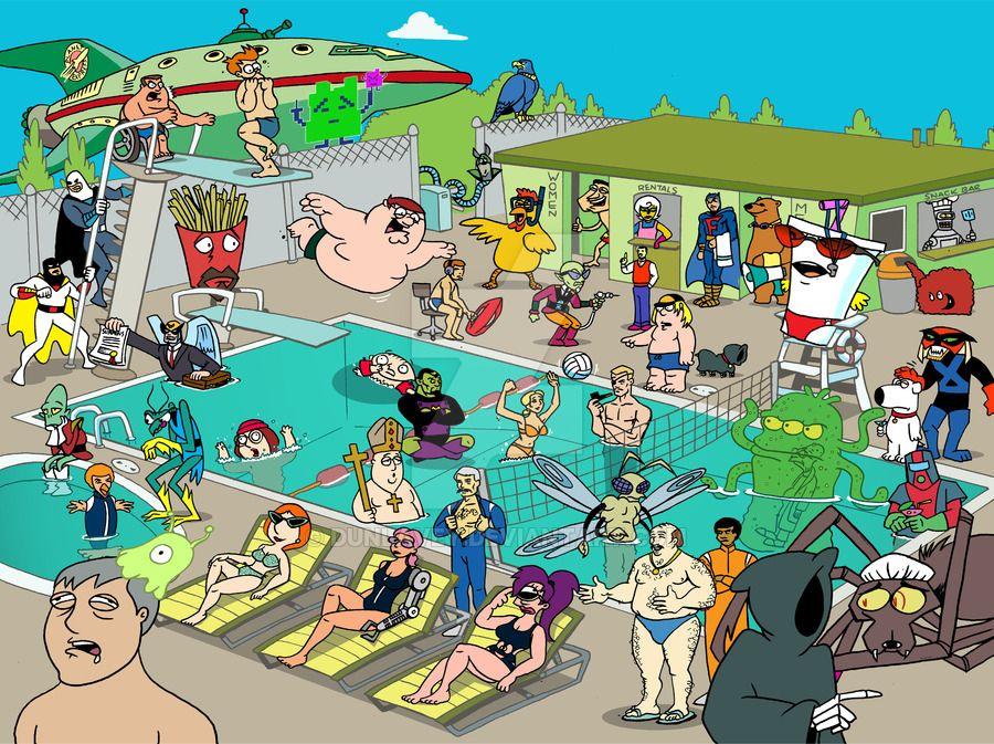 Adult swim party