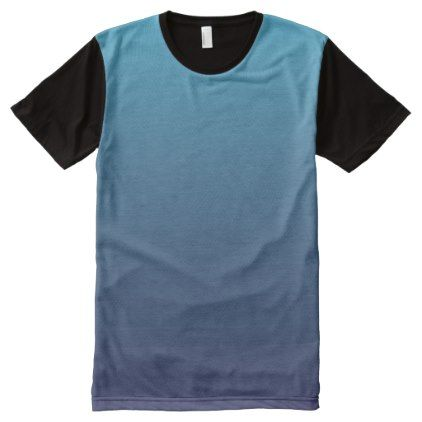 Template  Ocean Blue Gradient Template AllOverPrint TShirt