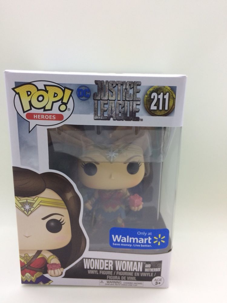 DC Heroes WONDER WOMAN Funko Pop with Shield #175 Walmart Exclusive NIB