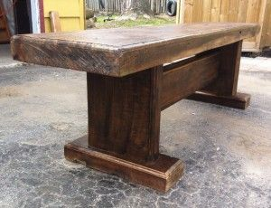 Reclaimed Barn Beam Bench Barn Wood Projects Old Barn