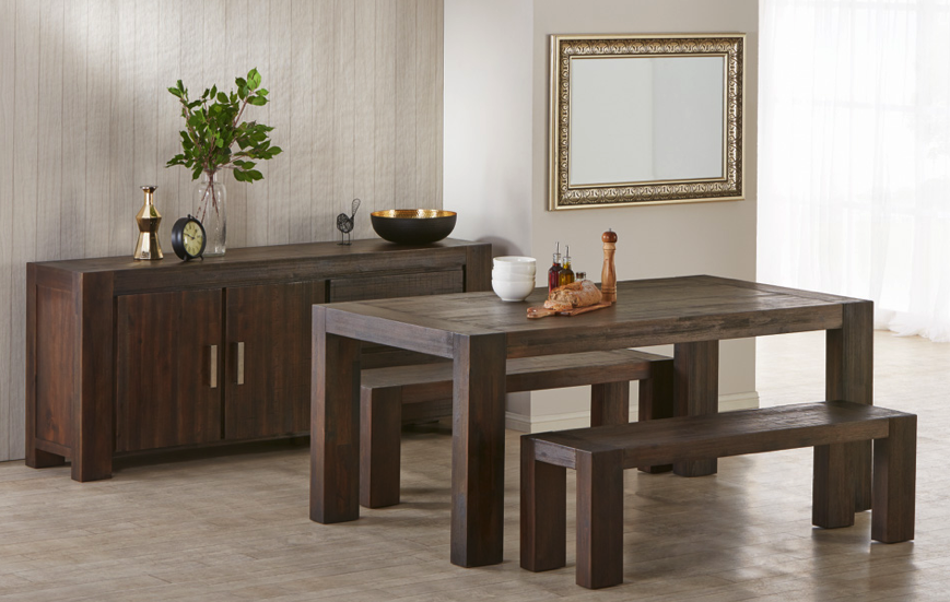 The Kingston 3 Piece Bench Dining Set Set Can Comfortably Fit 6 Adults. For  Extra Seating, Add A Dining Chair To Either End Of The Kingston Dining Table  To ...