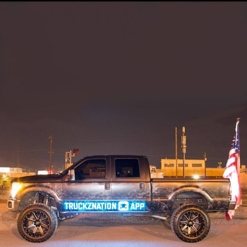 Truckznation app diesel opg app truck lifted america flag