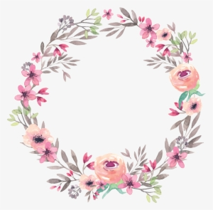 Watercolor Border Floral Watercolor Background Wallpaper Border Bulat Bunga Png In 2020 Flower Frame Floral Wreath Watercolor