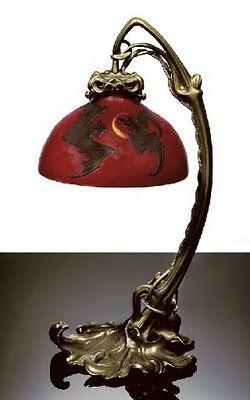 Bat Lamp. Aestheticus Rex: Symbolist Lighting: Gallé's Elusive Chauve-Souris Lamp