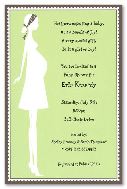 Gender neutral baby shower invitations silhouette expecting mom gender neutral baby shower invitations silhouette expecting mom green stopboris Images
