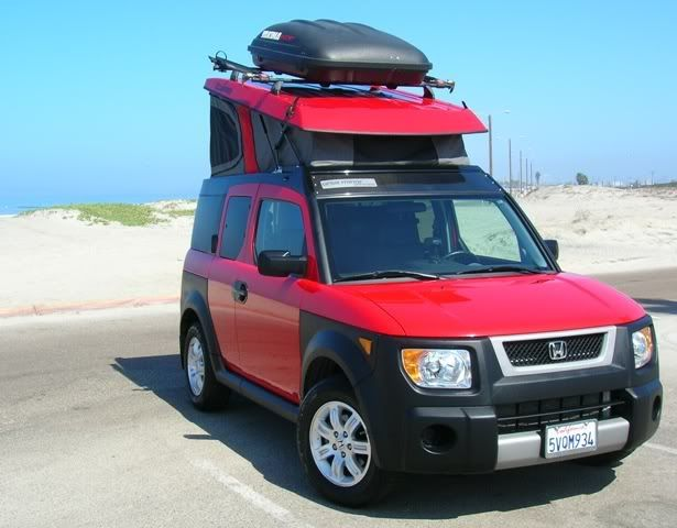Good Honda Element Pop Top Conversion :: SuperTopo Rock Climbing Discussion Topic