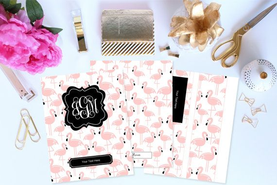 Personalized Planner Cover and Spines Printable by ThePreppyGreek