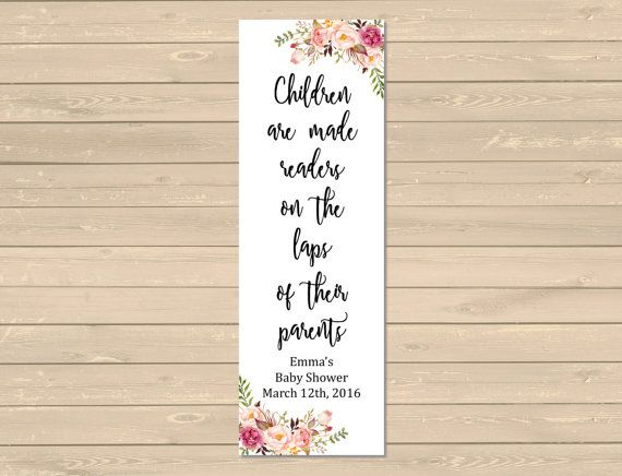 Boho Printable Bookmark Favors, Floral Boho Bookmarks, Boho Baby Shower Bookmark Favor, Peonies Roses Printable Favor, Download 025-W
