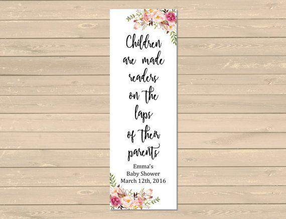 Boho Printable Bookmark Favors, Floral Boho Bookmarks, Boho Baby Shower Bookmark Favor, Peonies Roses Printable Favor, Download 025-W