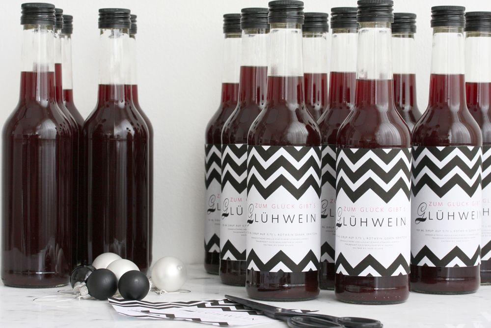 gl hweinsirup mit ohne alkohol rezept geschenke aus der. Black Bedroom Furniture Sets. Home Design Ideas