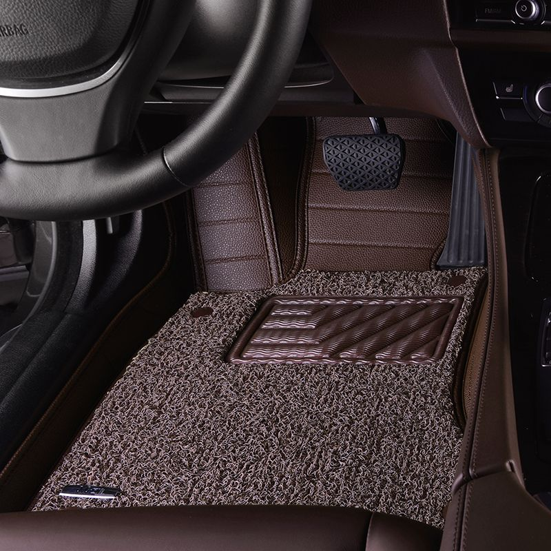 Leather Wire Car Floor Mat For Land Rover Range Rover Discovery3 4 Freelander2 Defender Waterproof Floo Car Floor Mats Waterproof Flooring Interior Accessories