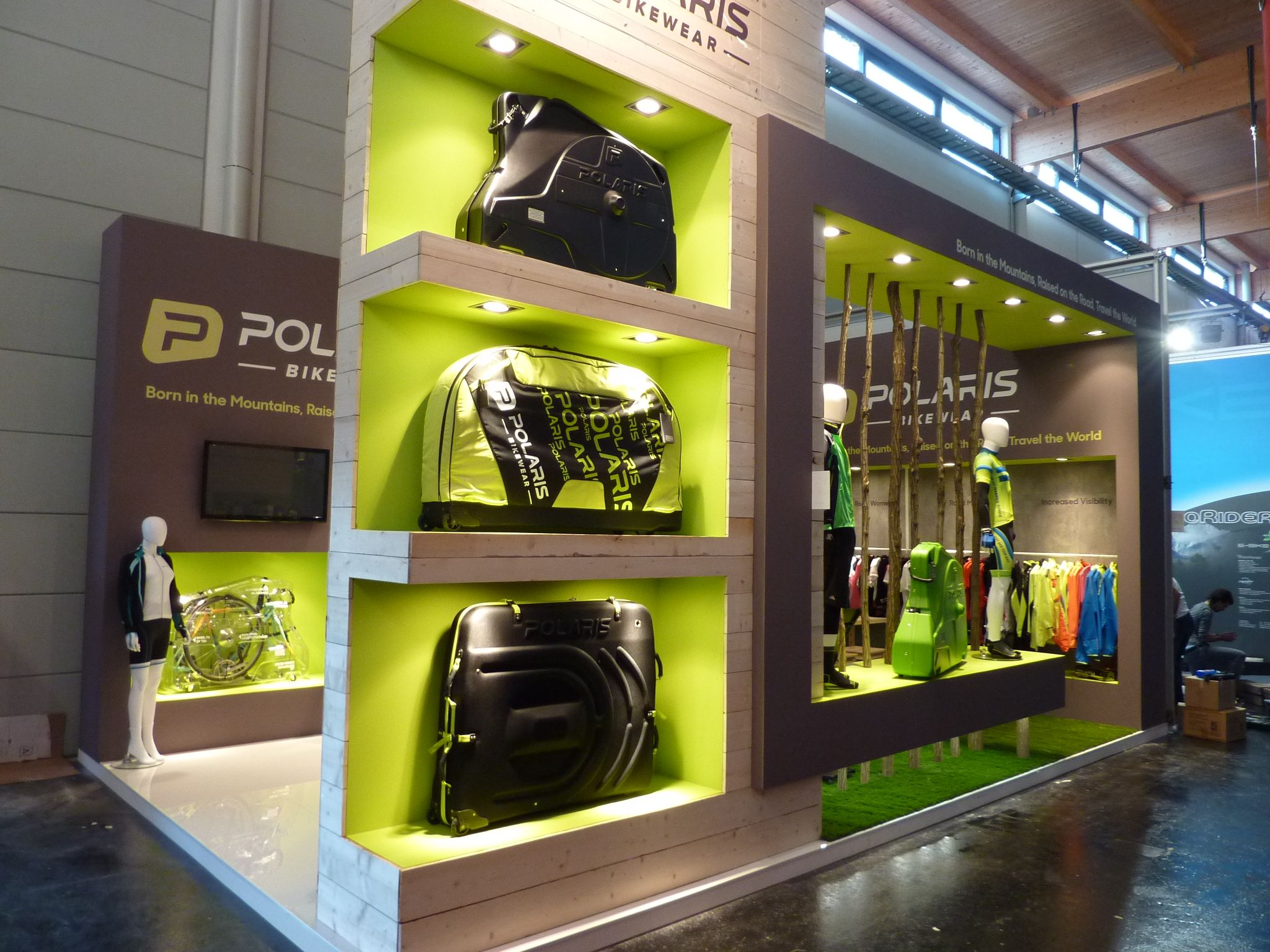 Exhibition Stall Ideas : Polaris bikewear stand at eurobike and