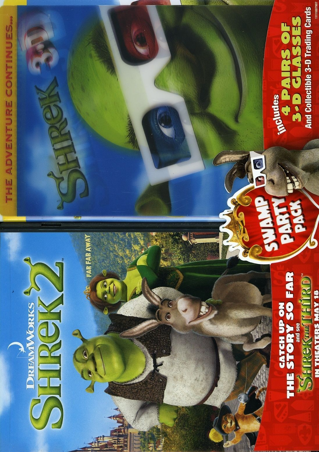 Paramount Studios Shrek 2 Shrek 3d Party In The Swamp 2 Pack Shrek Party Swamp