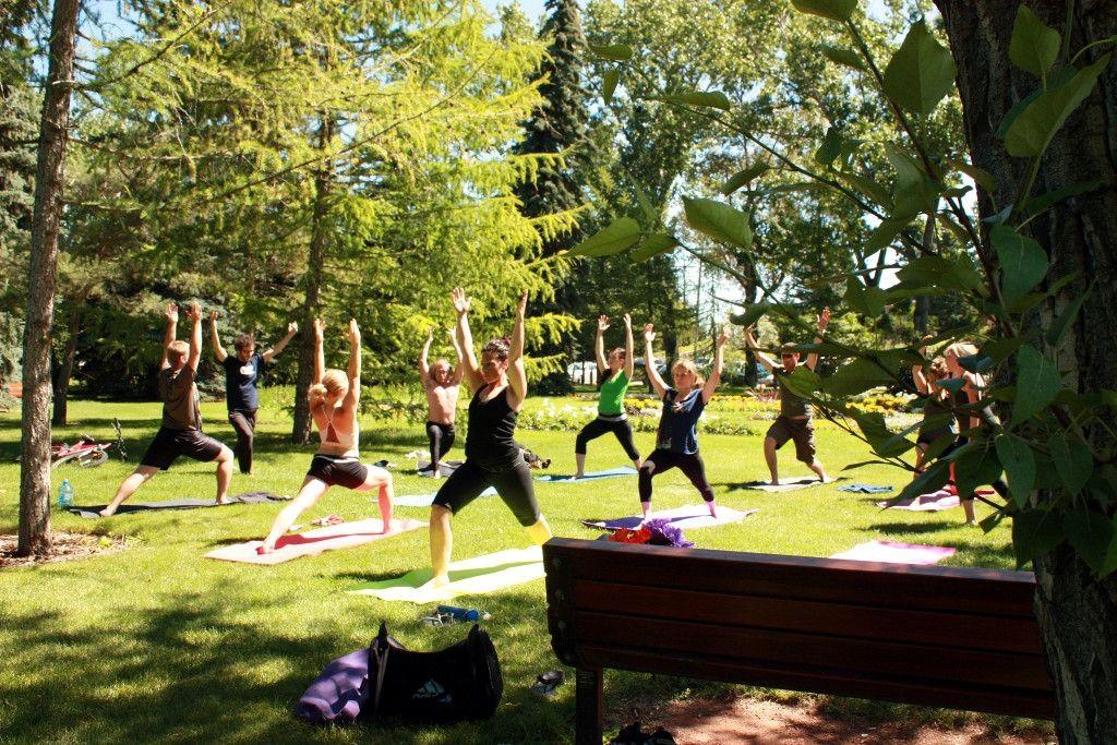 Where To Take Outdoor Yoga In Calgary Outdoor Yoga Yoga Calgary