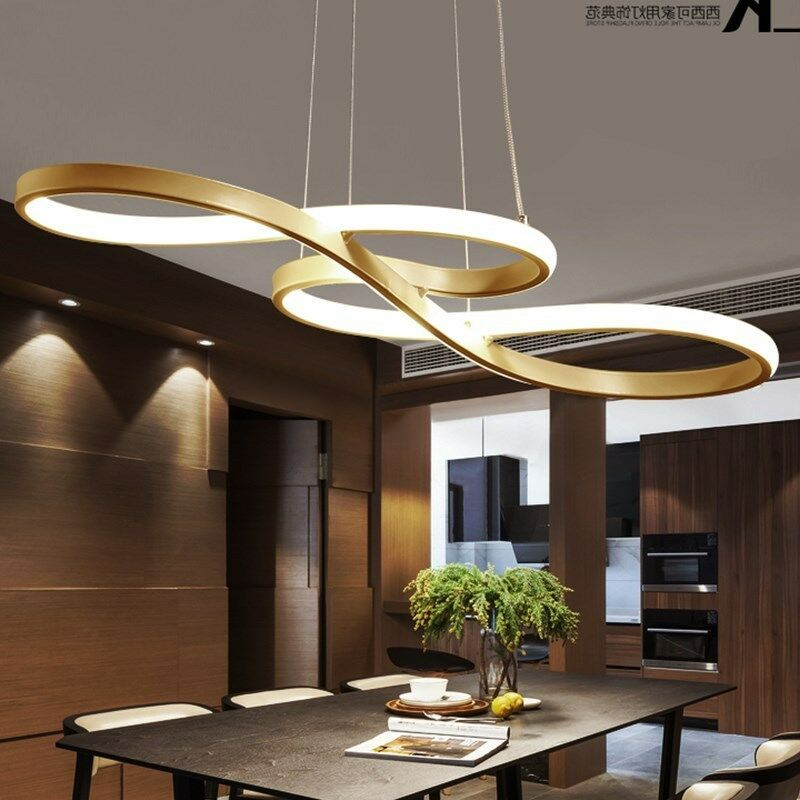 Led Chandelier Dining Room Ceiling Light Acrylic Restaurant