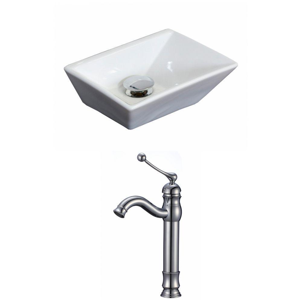 Gothobby Euro Modern Brushed Nickel Bathroom Vessel Vanity Sink Faucet Single Hole Rectangular Vessel Sink Sink Rectangular Sink Bathroom