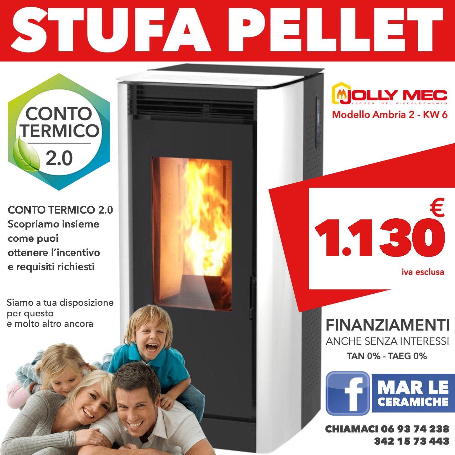 Stufa PELLET offerta jolly mec Ambria 2 prezzo € 1.130 6 KW ...