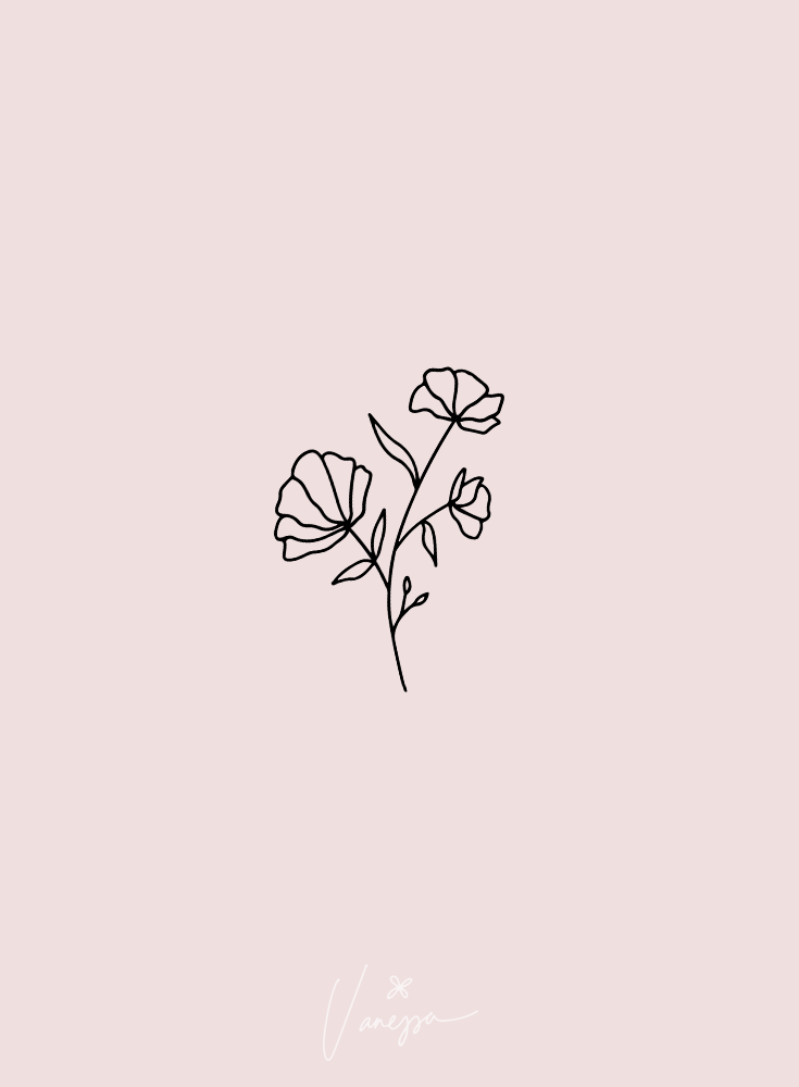 Floral Bundle Fonts Illustrations Floral Tattoo Design Flower Drawing Simple Flower Tattoo