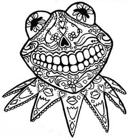 Day Dead Coloring Pages Sugar Skulls Pinterest Debt - fresh day of the dead mandala coloring pages