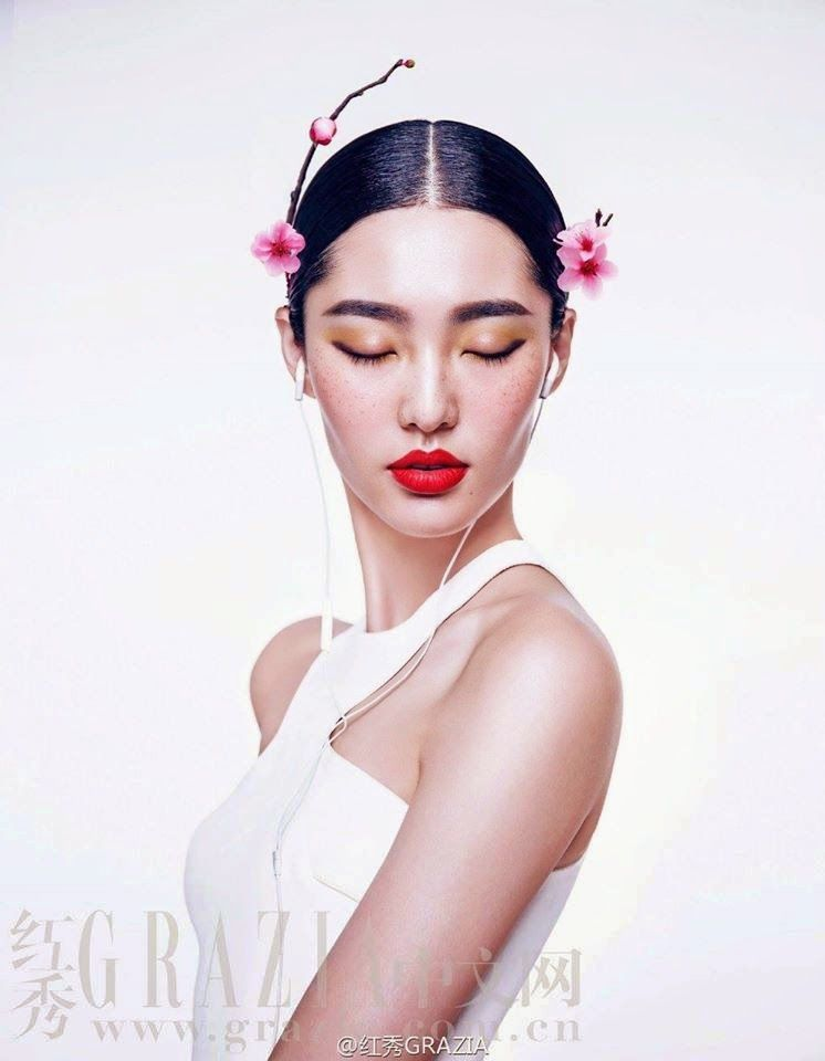 Miss-Peacock Chen Man Photography for Grazia China Chen Man